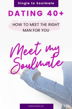 Meeting the right man after 40 does not have to be hard! Tips to meet the perfect man without online dating. Single to Soulmate at 40+. Online Dating Profile, The Right Man, Meeting Someone, Perfect Man, Facts, Tips, Counseling