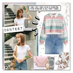 """""""Pastel, Cute Denim [Contest]"""" by angelstylee ❤ liked on Polyvore featuring Yves Saint Laurent, Miss KG, Casetify, Old Navy and Michael Kors"""