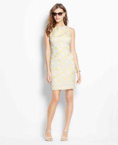 Petite Sundot Sheath Dress | Ann Taylor