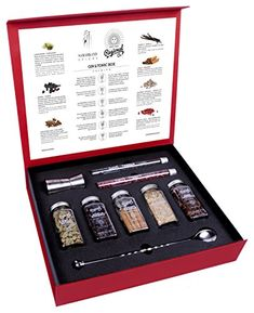 Gin and Tonic Premium Gift Set of Cocktail Botanicals & Spices 200 Grams. I get a commission for purchases made through the link in this pin