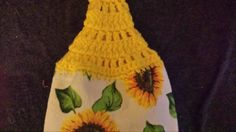 Check out this item in my Etsy shop https://www.etsy.com/listing/271518274/sunflower-hanging-kitchen-towel