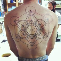 metatron's cube tattoo!