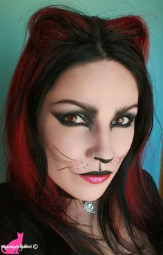 Make-up Artist Me!: Felina - Cat Costume Makeup Tutorial