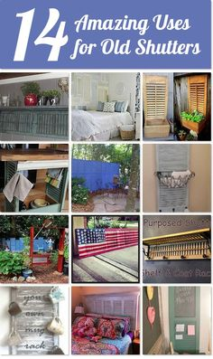 Hometalk | 14 amazing uses for old shutters