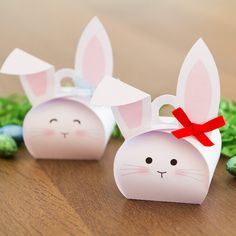 Bunny favor boxes