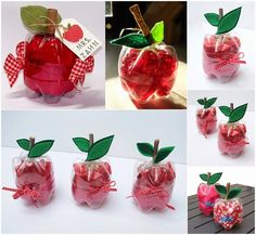 Apple shaped plastic bottles diy diy ideas diy crafts do it yourself crafty diy pictures craft ideas kids crafts