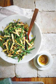 Recipe: Lemony Green Bean Pasta SaladLemon and shallots marry for a bright taste that's ideal for a ... - Photo: Helene Dujardin