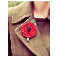 Free knitted and crochet poppy pattern.