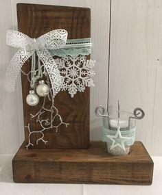 Weihnachtsdeko - Weihnachten - Teelichtständer - gewachst - ein Designerstück von Hexerei bei DaWanda