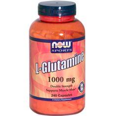 Now Foods, L-глутамин, 1000 мг, 240 капсул