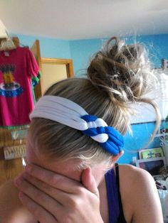 Diy T-shirt  headband! Look at mine!