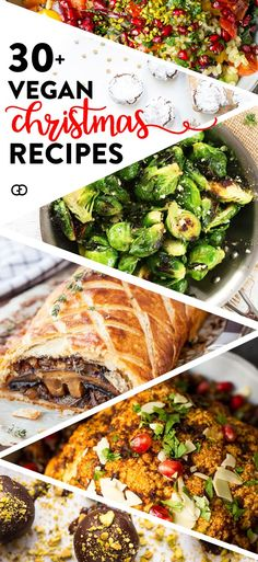 Over 30 delicious vegan Christmas recipes, from breakfast to sides to entrees and desserts! Everything you need for the perfect vegan Christmas dinner christmas dinner menu ideas Incredible Vegan Christmas Recipes! Vegetarian Christmas Recipes, Vegan Christmas Dinner, Vegan Thanksgiving, Christmas Cooking, Holiday Dinner, Vegetarian Recipes, Healthy Recipes, Christmas Parties, Christmas Treats