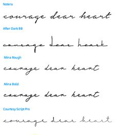courage dear heart - which font?