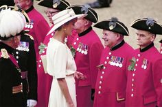 Princess Diana at the Founders Day celebration at the Royal Hospital, Chelsea