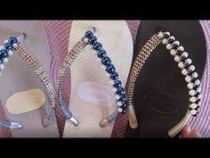 Decorating Flip Flops, Decoration, Sewing Crafts, Swarovski, Slippers, Flats, Earrings, Diy, Youtube