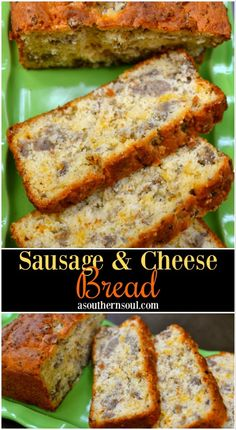 Easy to make, Sausage and Cheese Bread for breakfast, brunch or an afternoon snack. Easy to make, Sausage and Cheese Bread for breakfast, brunch or an afternoon snack. It's tender and full of savory flavor that make it hard to resist! Breakfast Dishes, Breakfast Recipes, Breakfast Casserole, Fast Breakfast Ideas, Easy Brunch Recipes, Breakfast Pancakes, Breakfast Burritos, Breakfast For Dinner, Bisquick Recipes