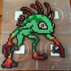 Murloc World of Warcraft perler beads by phawkesy - Pattern: https://www.pinterest.com/pin/374291419006185563/