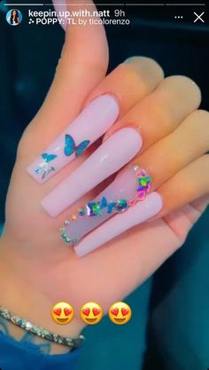 Acrylic Nails Coffin Pink, Long Square Acrylic Nails, Coffin Shape Nails, Square Nails, Drip Nails, Glow Nails, Dope Nail Designs, Acrylic Nail Designs, Nails Design With Rhinestones