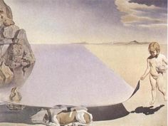 Dali at the Age of Six When He Thought He Was a Girl Lifting the Skin of the Water to See the Dog Sleeping in the Shade of the Sea 1950 Salvador Dali