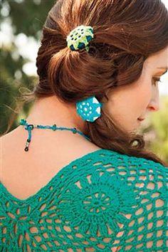 Interweave Crochet Summer 2013: Ponytail Posies pattern by Brenda K. B. Anderson