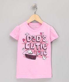Pink Dads Cutie Pie Tee - Toddler