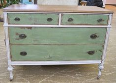 Dresser painted with Annie Sloan Chalk Paint, by Miss Mustard Seed | followpics.co