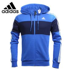 Original New Arrival 2017 Adidas JKT KN CB FZ HD Men's Knitted jacket Hooded Sportswear