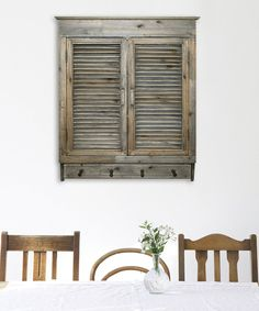 Look what I found on #zulily! Distressed Gray Louvered Cabinet by MCS Industries #zulilyfinds