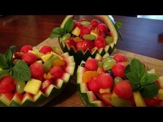 Carving Watermelon Basket And Bowls