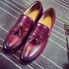 4c0bfd1fb82 Loafers Men Flat Shoes Men Moccasins Shoes Wedding Leather Men Shoes C –  myshoponline.com
