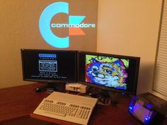 C-128 pushing both screens simultaneously