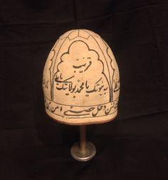 Antique Persian dervish felt hat rare collection by akcaturkmen Persian Motifs, Persian Culture, Islamic Architecture, Felt Hat, Sufi, Central Asia, Headgear, Islamic Art, Headdress