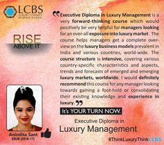 Anindita Sant shares her experience about studying EDLM course at LCBS. It's your turn now. Come be part of this exciting Luxury Journey!! Enroll yourself at: http://lcbs.edu.in/executive-diploma-in-luxury-brand-management/ #ThinkLuxuryThinkLCBS #LuxuryManagement #LuxuryEducation #LuxuryBrandManagement #Education #BSchool #Diploma #College #University #PostGraduate #Luxury