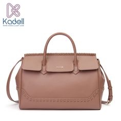 ea09f35f263b Kadell 2016 Elegant Doctor Shoulder Bags Handbags Women Famous Brands PU  Leather Weave Bag Ladies Casual Women Messenger Bags nude pink