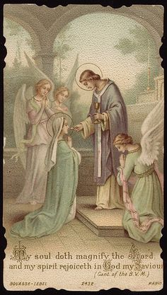ab64023a160 Cantical of the Blessed Virgin Mary (Luke  Virgin Mary receiving Eucharist  from the hand of St.
