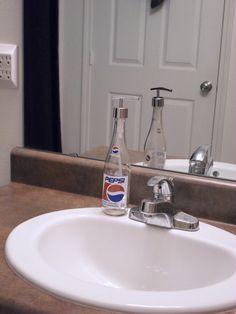 Pepsi Cola Soap Dispenser Lotion Dispenser by SchulersGlassDecor, $15.00