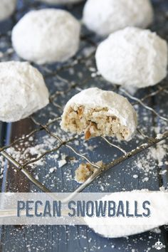 Pecan Snowball Cookies recipe from Southern Bite. Only 6 ingredients that makes 48 cookies. Make sure to hide some of these for yourself because once the family finds them, they disappear.