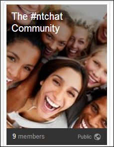 This is our Google Plus Community for New Teacher Chat. This chat was founded by Lisa Dabbs to provide weekly mentoring and focus on the needs of new, new to the profession and pre-service teachers. Join us!