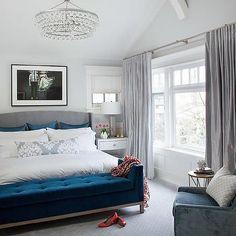 Blue Velvet bench, Contemporary, bedroom, Terris Lightfoot