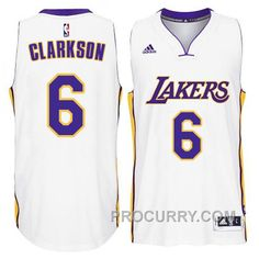 f983797144e Jordan Clarkson Los Angeles Lakers #6 2014-15 New Swingman White Jersey,  Price: $68.00 - Stephen Curry Shoes Under Armour Store Online