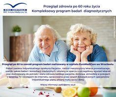 """W tym tygodniu Dzień Babci i Dzień Dziadka! Nie macie jeszcze pomysłu na prezent dla ukochanych Seniorów? Nie ma nic lepszego niż zdrowie. """"Przegląd po 60"""" pozwoli lepiej o nie zadbać. Szczegóły tu: http://euromedicare.emc-sa.pl/pl/euromedicare/oferta/przeglady-zdrowia/przeglad-po-60-tce #emc #senior #zdrowie"""