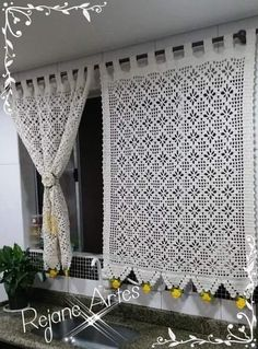 Crochet Border Patterns, Crochet Curtain Pattern, Crochet Curtains, Crochet Cushions, Curtain Patterns, Lace Curtains, Crochet Motif, Lace Doilies, Crochet Doilies