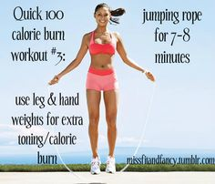 Add jump rope to your workout to burn an extra 100 calories