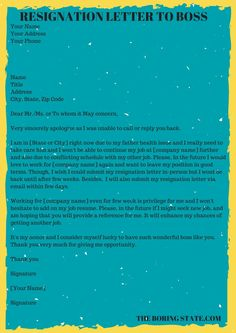 Resignation Letters What You Need To Know Resignation Letter