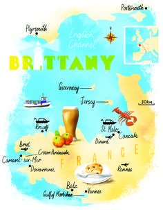 Brittany map by Scott Jessop, October 2015 issue