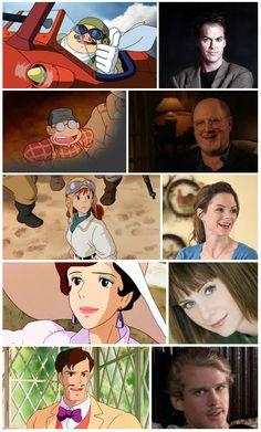 'Porco Russo' characters & voice actors