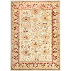 Safavieh Heirloom Creme/ Red Rug (6'7 x 9'1) (HLM1741-1140-6)
