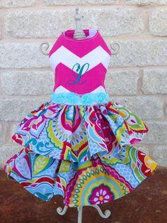 Custom monogrammed dog dress pet clothing With by Rufflesforcharli, $32.00