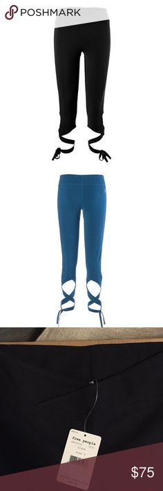 NWT Free People Movement Turnout leggings, S You're not one to sit still for very long, so get out and stretch, run, and dance in the Free People Women's Turnout Leggings. The stretchy fabric moves with you while wicking sweat and offering excellent breathability so you stay cool and comfy. Ballet-inspired Picot Performance wrap ties at the hems add an appealing look for any current or former dancers out there. Italian-sourced stretch cotton blend fabric Black, size Small Free People Pants…