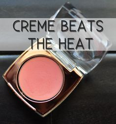 Ditch your powder blush for tinted creme blush. Creme blush works better with sweat than powder.  |  Beauty Tricks